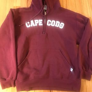 Russell Athletic Shirts - Cape Cod Russell 1/4 Zip Hoodie Maroon Sz Med/H5